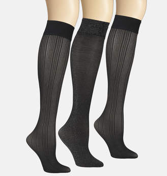 Avenue Rib Lurex Trouser Socks-3 Pack