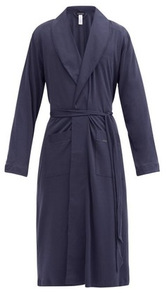 Hanro Night & Day Cotton Robe - Mens - Navy