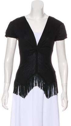 Miguelina Fringe Short Sleeve top