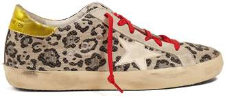 Golden Goose Super Star low-top leopard-print trainers