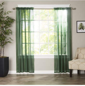 "Elegant Comfort 2-Piece Sheer Window Curtain/Panel with 2"" Rod Pocket - Window Curtains 60"" W x 84"" L Bedding"
