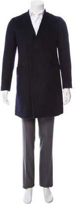Robert Geller Plush Wool Blend Overcoat