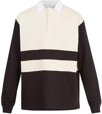 Raey Long-sleeved cotton-jersey rugby shirt