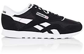 Reebok Women's Classic Nylon & Suede Sneakers-Black