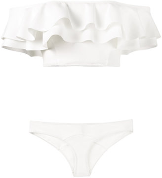 Mira ruffle bandeau bikini