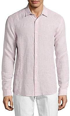 Orlebar Brown Men's Morton Tailored Linen Button-Down Shirt