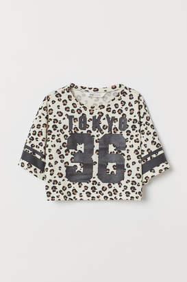 H&M Printed short top