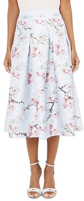 Ted Baker Floral-Printed Midi Skirt $295 thestylecure.com