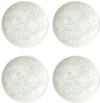 ED Ellen Degeneres By Royal Doulton Set Of 4 Polar Blue Porcelain Salad Plates