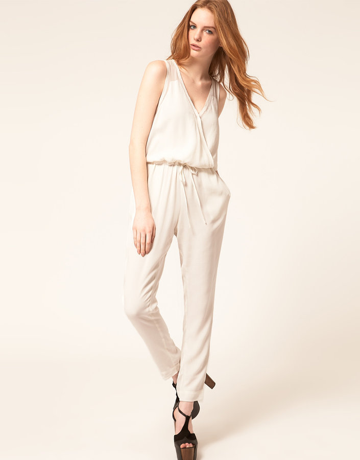 Dagmar Jumpsuit with Chiffon Trim