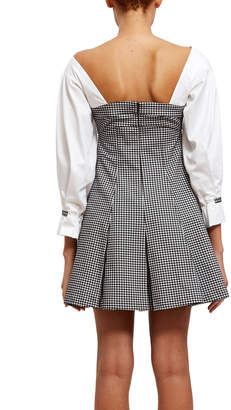 Opening Ceremony Inverted Pleat Bustier Dress