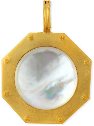 Mother of Pearl Dina Mackney Mother-of-Pearl Nailhead Pendant