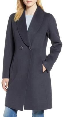 Tahari Caleigh Fitted Wool Blend Coat