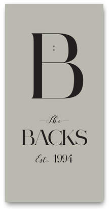 Liberty Bee B The Backs Est 1994 Personalised Family Print