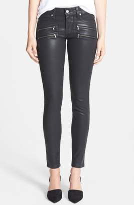 Paige 'Edgemont' Coated Ultra Skinny Jeans