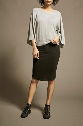 Monrow Fine Knit Pencil-Skirt