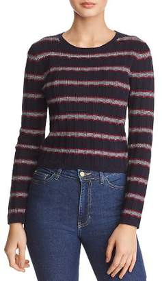 The Fifth Label Gravitation Striped & Ribbed Long-Sleeve Tee