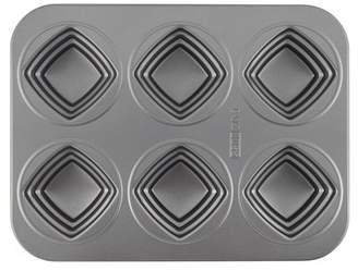 Cake Boss Novelty Nonstick Bakeware 6-Cup Square Cakelette Pan