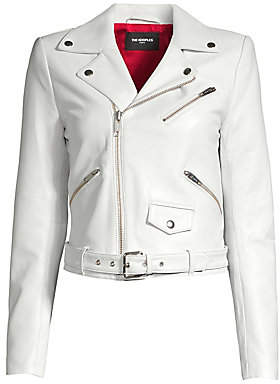 The Kooples Women's Asymmetric Leather Moto Jacket