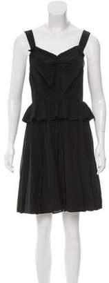 Marc Jacobs Sleeveless Mini Dress Black Sleeveless Mini Dress
