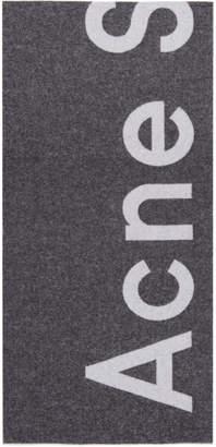 Acne Studios Black Toronty Logo Scarf