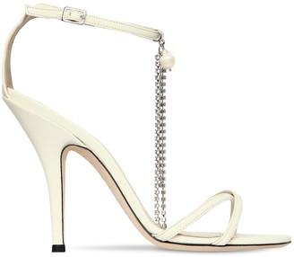 Magda Butrym 110mm Ireland Leather Sandals W/Crystals