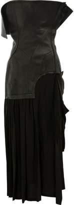 Yohji Yamamoto lambskin and silk dress