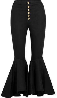 Ellery Hysteria Button-Detailed High-Rise Flared Jeans