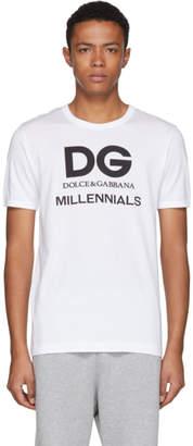 Dolce & Gabbana White Millennials Logo T-Shirt