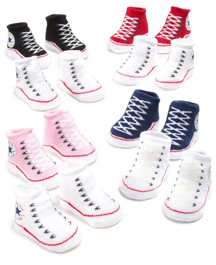 Converse Baby Socks, Baby Boys or Girls Booties Two Pack