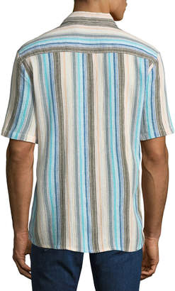 Raga Men's Casual-Fit Striped Short-Sleeve Sport Shirt