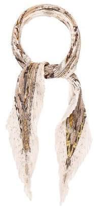 Hermes Reve D'Australie Silk Plissé Scarf