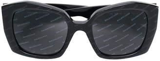 Balenciaga Eyewear diagonal logo print sunglasses