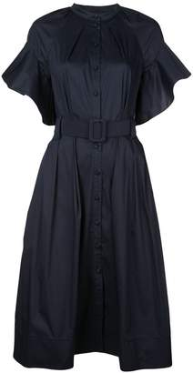 Oscar de la Renta navy belted dress