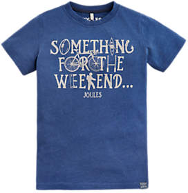 Joules Little Joule Boys' Something For The Weekend T-Shirt, Blue