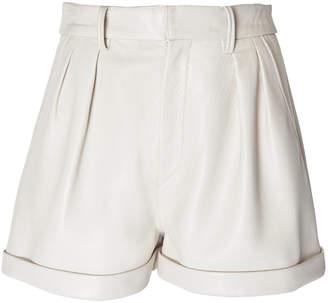 Isabel Marant Fabot High-Waisted Leather Shorts Size: 40