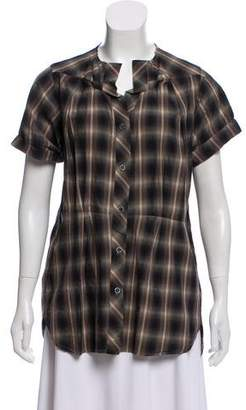 Etoile Isabel Marant Button-Up Plaid Top