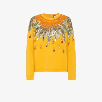 Gucci Leather Applique Wool Sweater