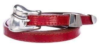 Kieselstein-Cord Thin Lizard Belt