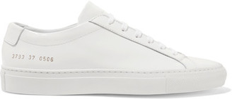 Common Projects - Original Achilles Patent-leather Sneakers - White $430 thestylecure.com
