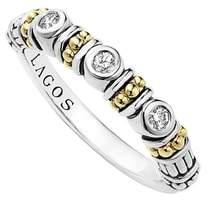 Lagos Three Diamond Stacking Ring