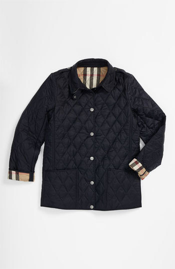 Burberry Girl's 'Mini Pirmont' Quilted Jacket