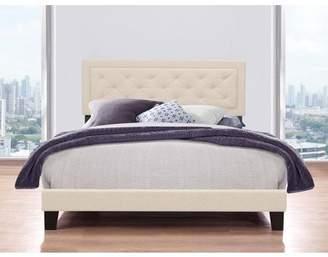Hillsdale Furniture La Croix Platform Bed, Tufted Headboard, Multiple Sizes and Multiple Colors