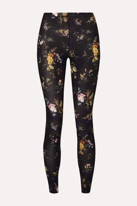 R 13 Floral-print Stretch-jersey Leggings - Black