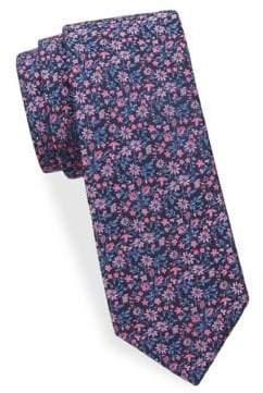 Saks Fifth Avenue Floral-Print Silk Tie