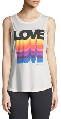 Spiritual Gangster Big Love Graphic Muscle Tank