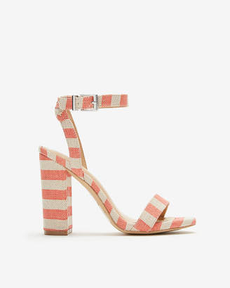 Express Striped Thick Heeled Sandals