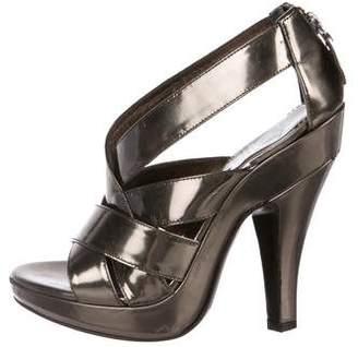 Burberry Metallic High Heel Sandals