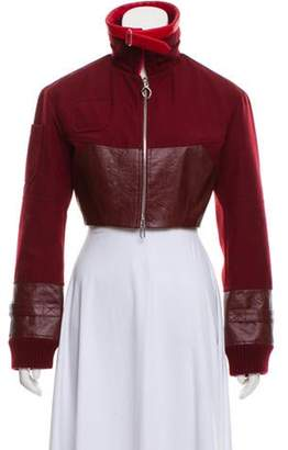 Christian Dior Leather-Trimmed Cropped Jacket Leather-Trimmed Cropped Jacket