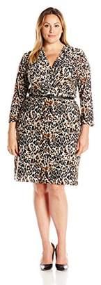 Single Dress Women's Plus Size Faux Wrap $173.82 thestylecure.com